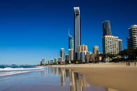 Surfers Paradise by the beach..