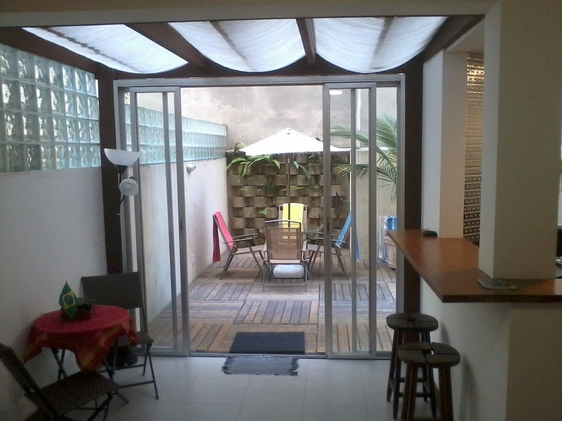Living room with partial view of the yard