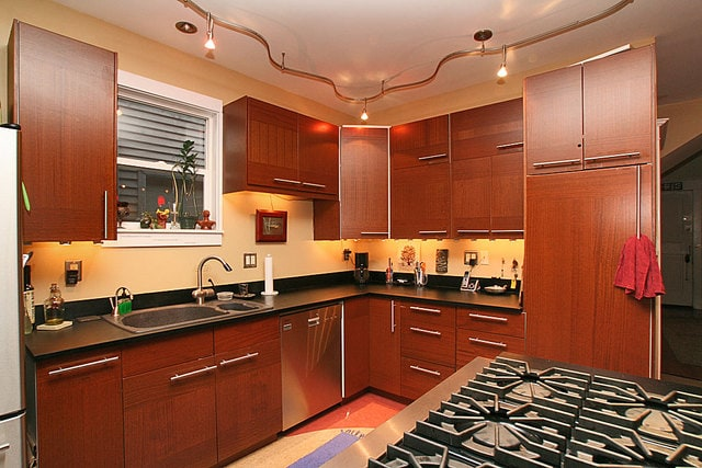 Gourmet kitchen equipped with High-End Appliances and some spices too!