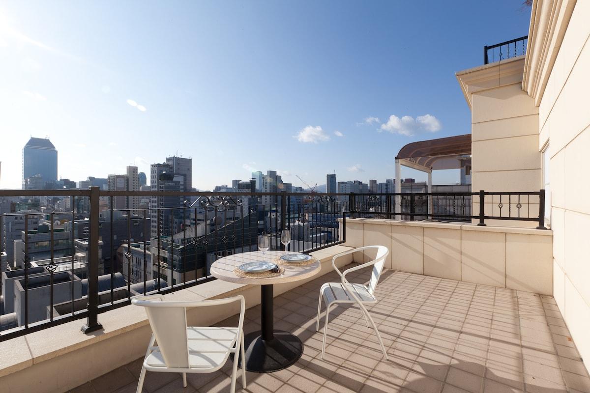 City view private terrace gangnam in gangnam gu for 104 terrace view ave