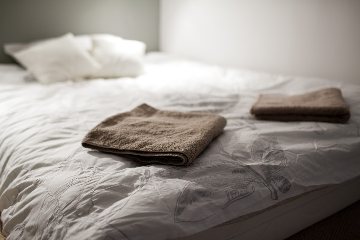 Your soft towels of your bed, waiting for you. Have a look at other photos of bedrooms at the end of this slideshow.