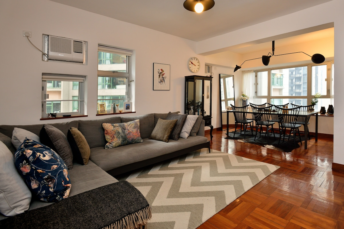 Entire Sunny Spacious Flat, Central
