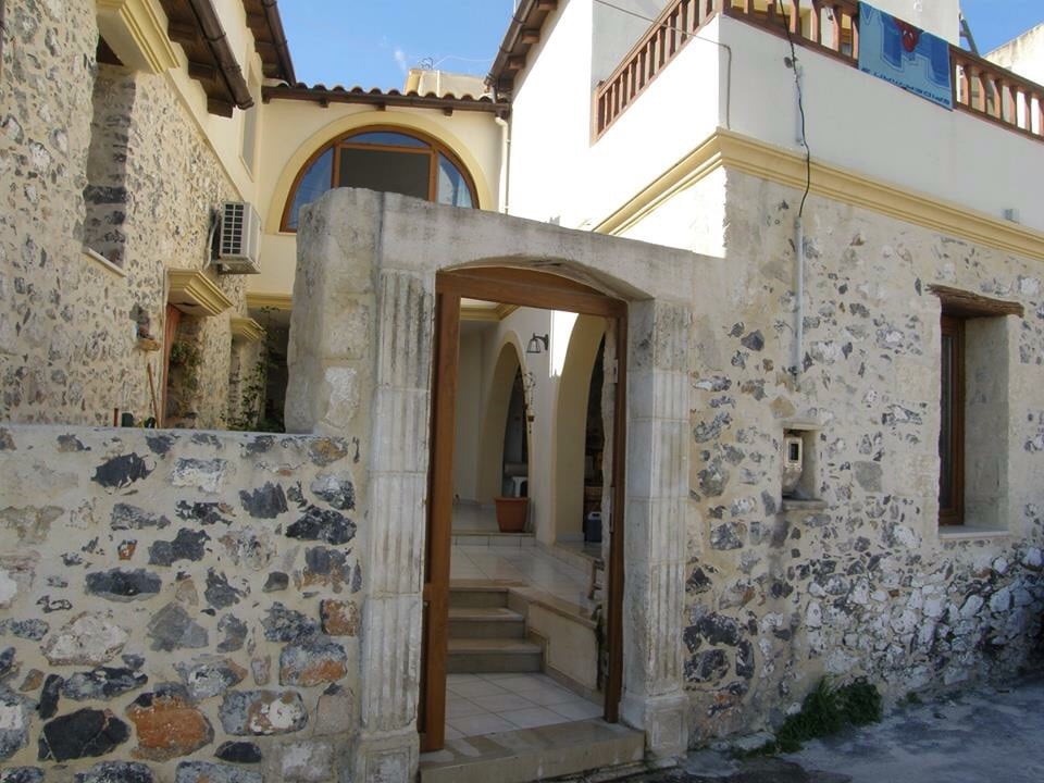 Traditional wood and stone villa