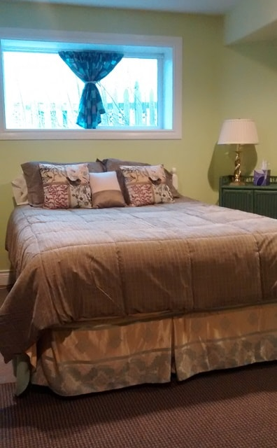 Comfy queen-size bed.
