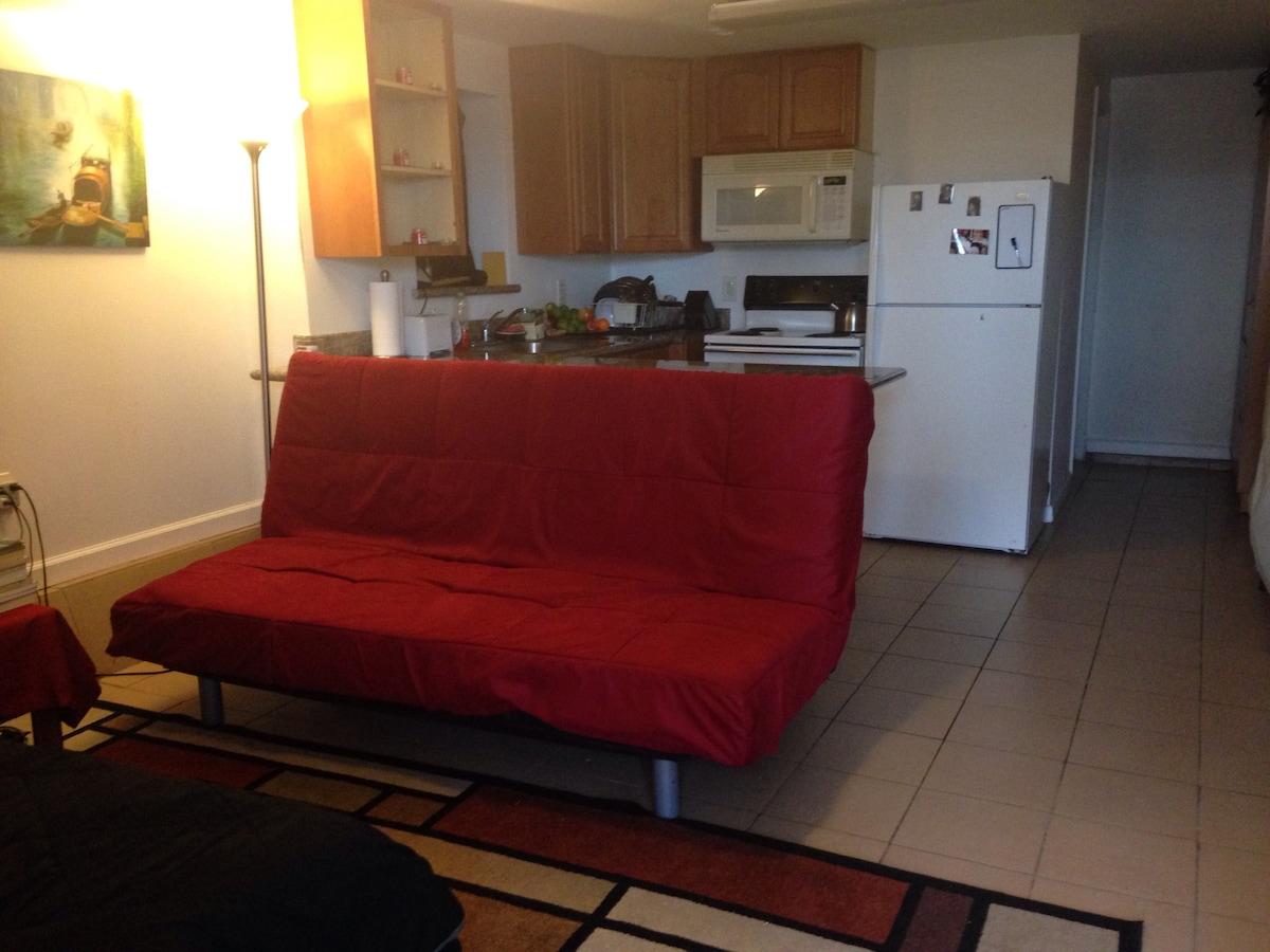 Private Studio (Twin Bed & 1 futon)