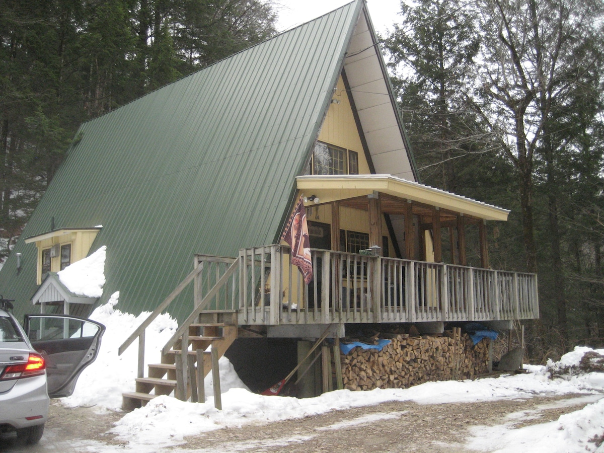 """Charming """"A"""" frame cabin on 3 acres"""