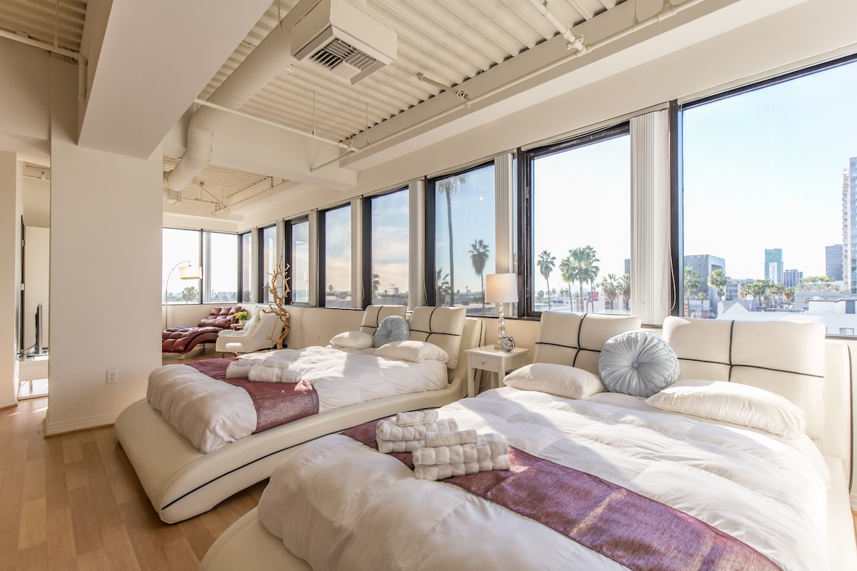 ENTIRE HOLLYWOOD LOFT -2 QUEEN BEDS