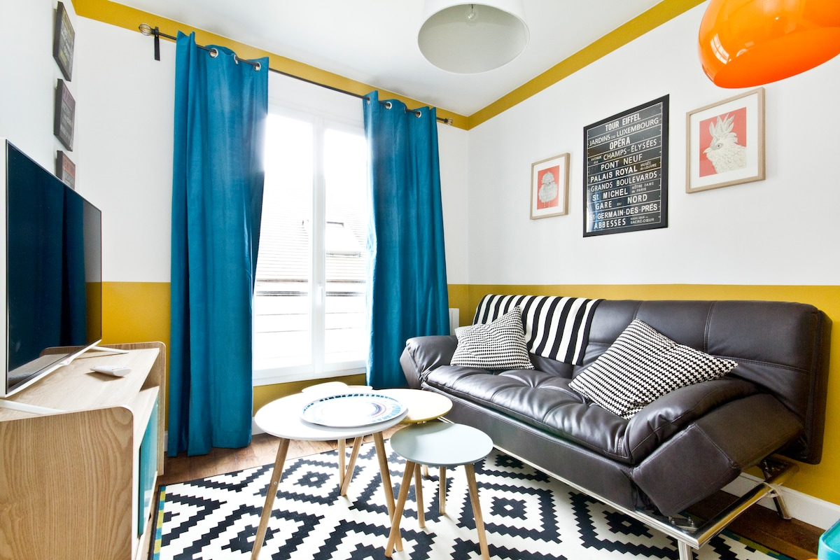 Montmartre Paris 2 rooms 2/4 Pers