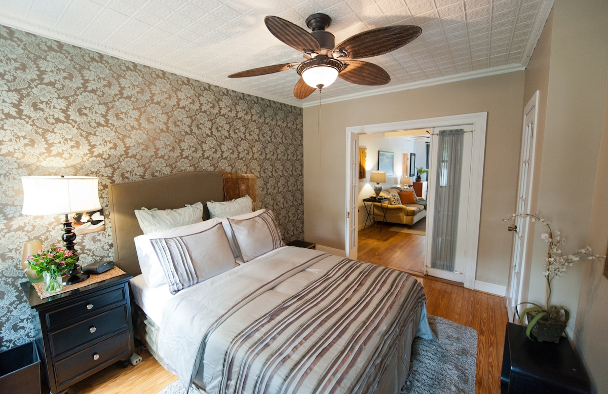 Spacious Private Bedroom & Living