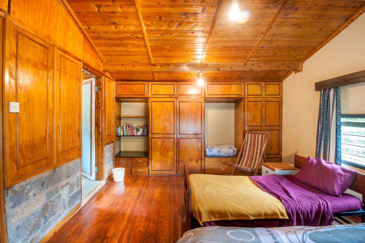 The interior of the Giraffe room. This room sits at the top of the BnB.