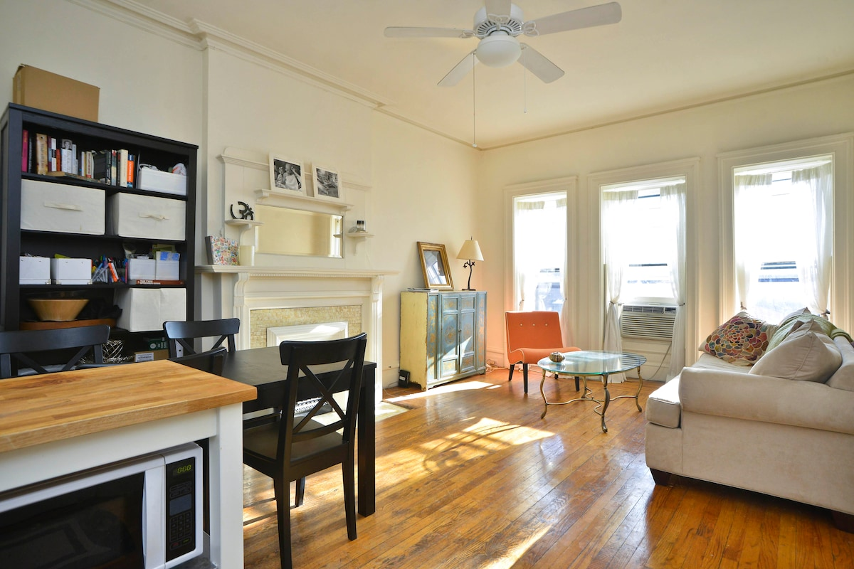 Sun-drenched 1-bed by Prospect Park
