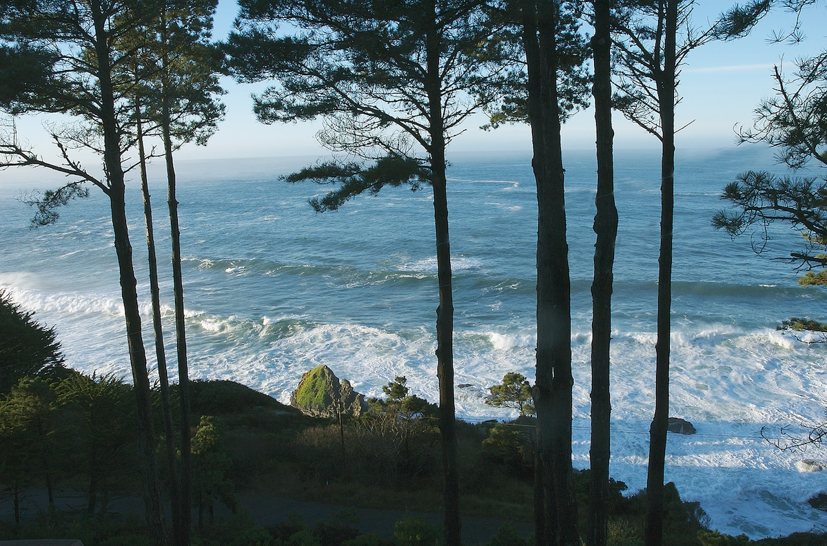 This is only part of the view from the cottage, add in the hot tub view to see it all.