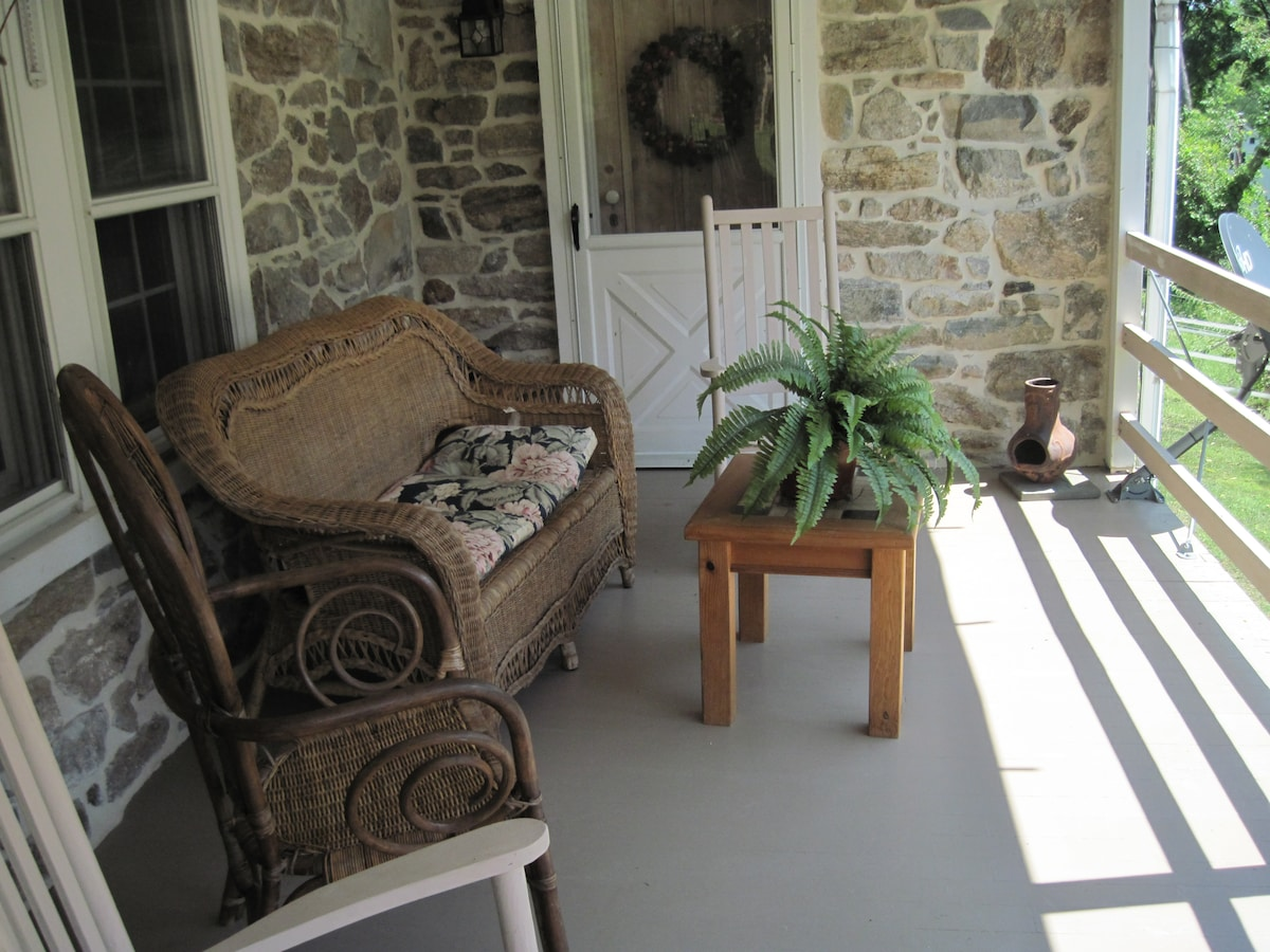 Great place to relax, drink your tea or cofee,  and catch some sunrays in the morning.