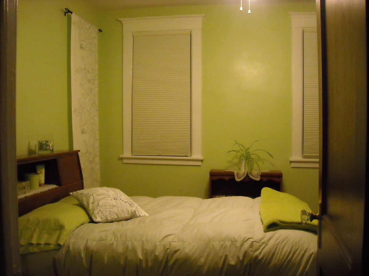 This  view of your room shows the room-darkening shades.