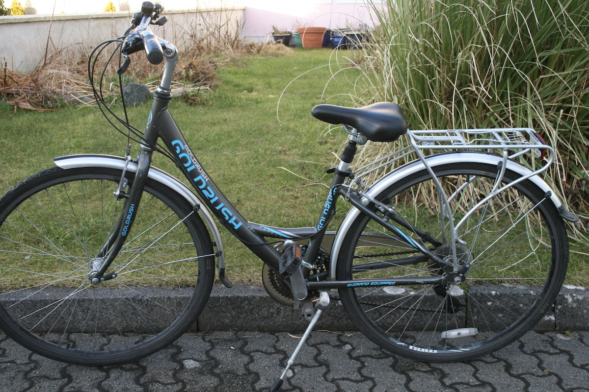 Ladies Goldrush Bike, 7 speeds. you can use these Bikes to cycle the 42klm Greenway that runs from Westport to Achill Island.