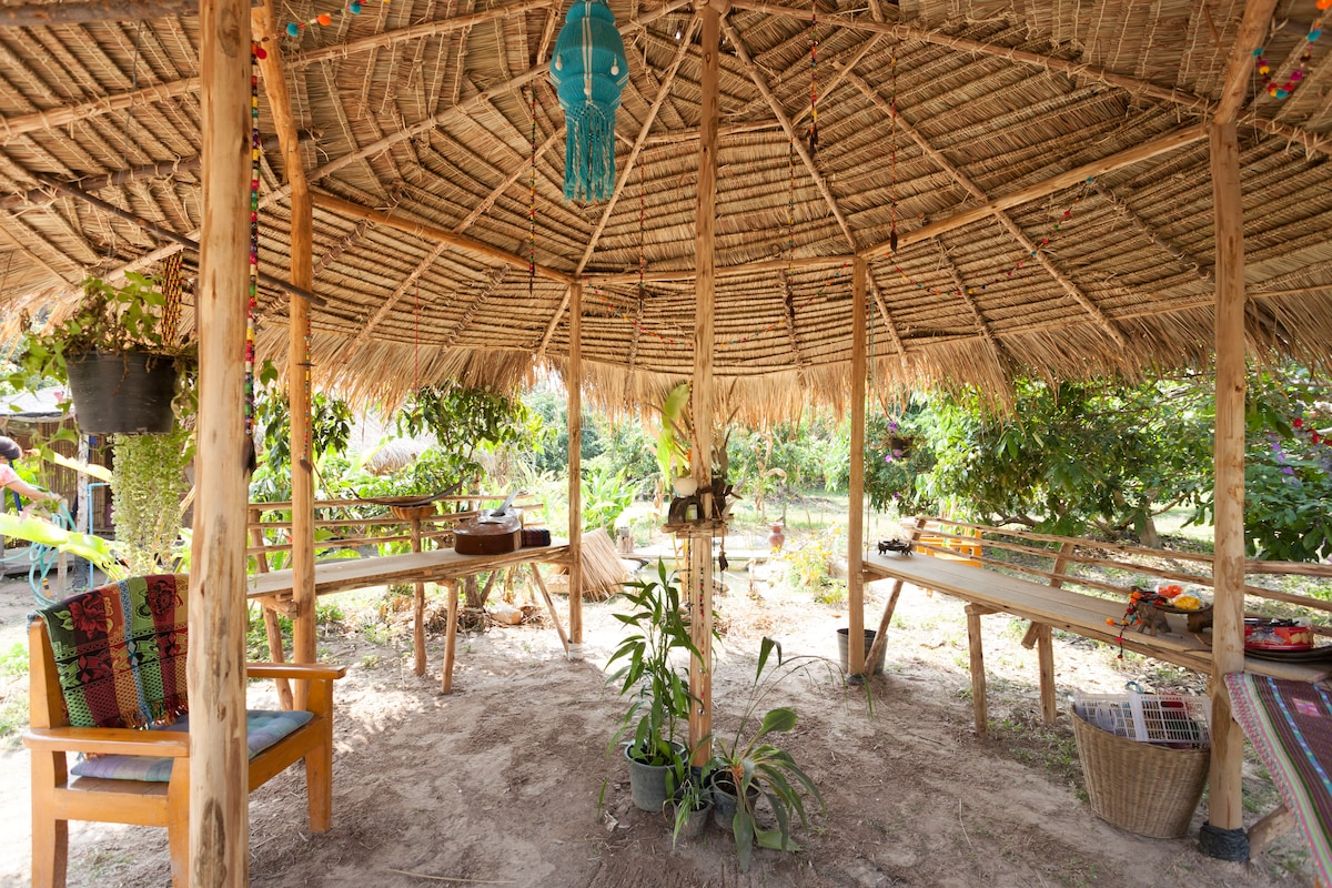 A traditional Thai shelter in a 2.5 acres of land.