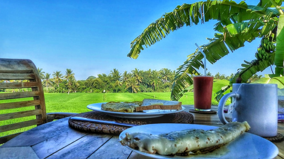 Enjoy daily breakfasts on your private deck - delicious!
