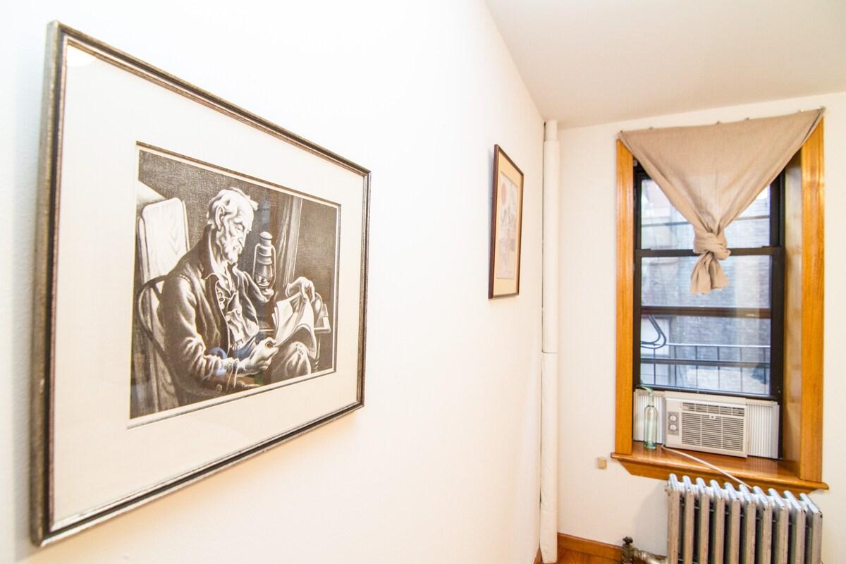 Beautiful artwork throughout apartment