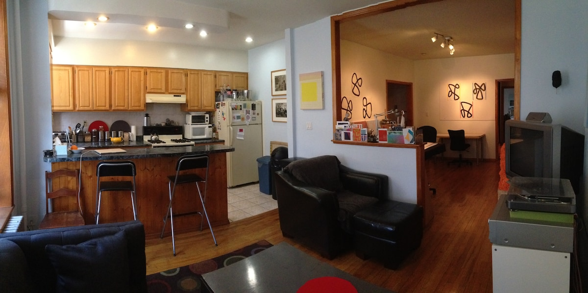 Living Room, Kitchen, Studio Are View