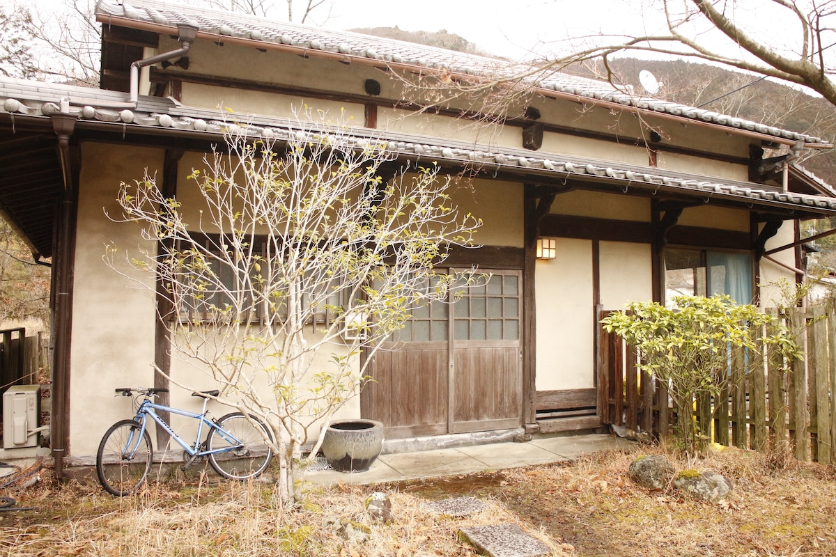japanese house with hot spring