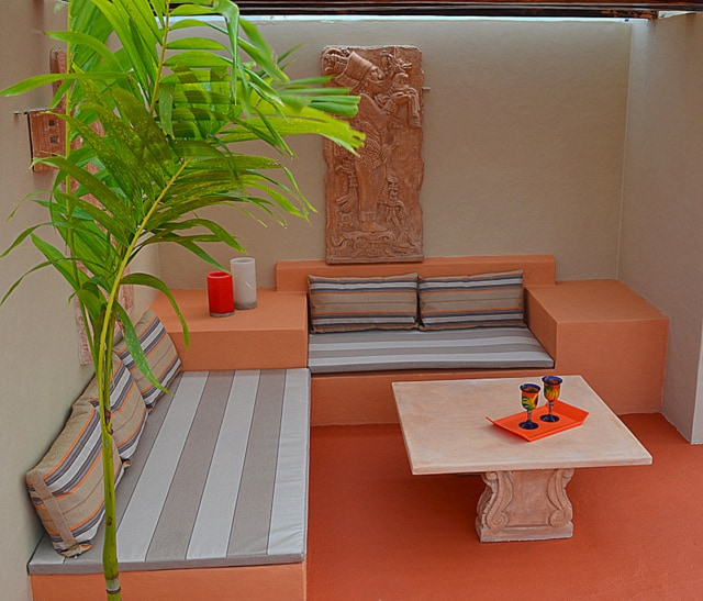 Your Private Roof Top w/Shaded Social Area featured Mayan Art Pieces