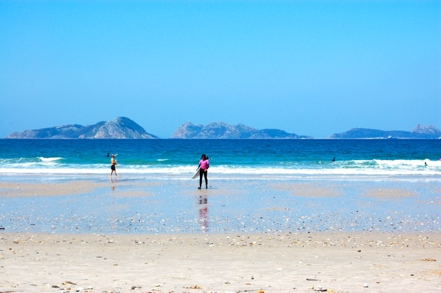 Cíes Islands: A captivating view from the beach