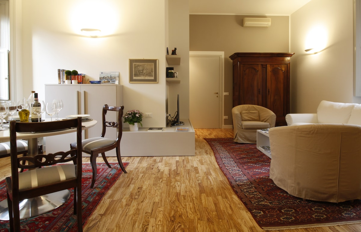 Apt. right in the middle of Pavia