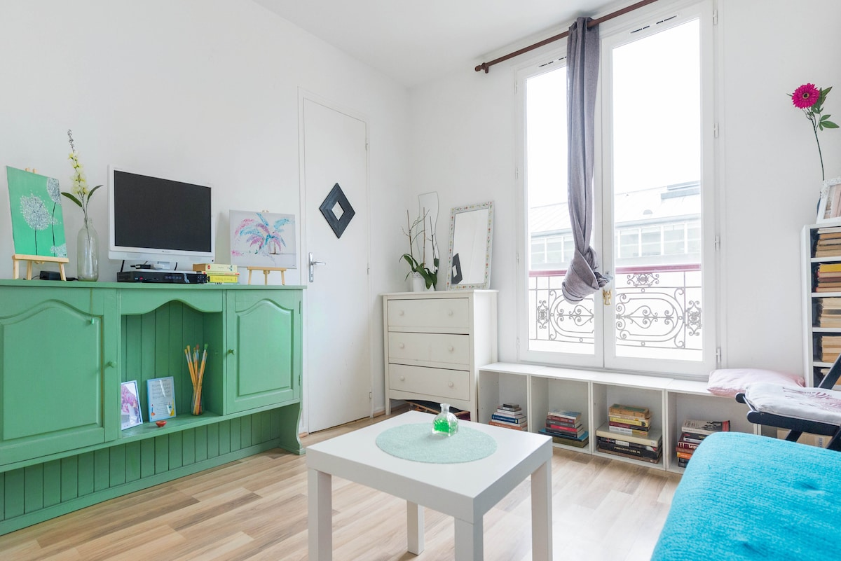 Cozy Studio Rue Oberkampf