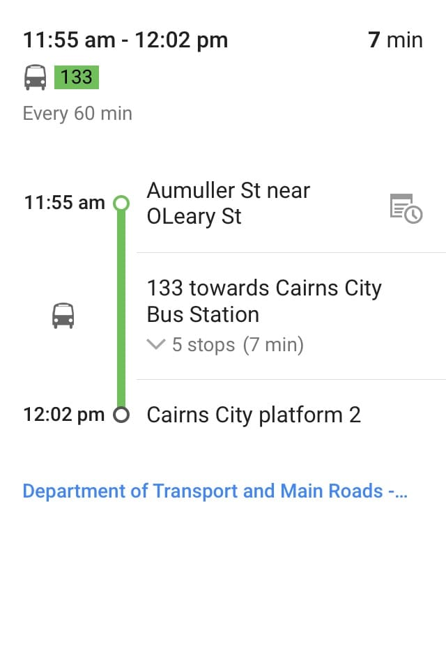 5 stops and 7 minutes and your in the epicentre of Cairns without paying $100-$200 for a room.