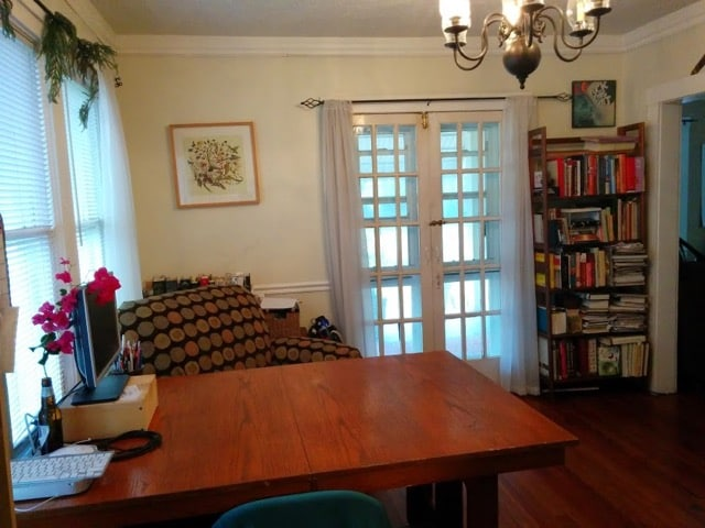 Our main living room is mostly library/office