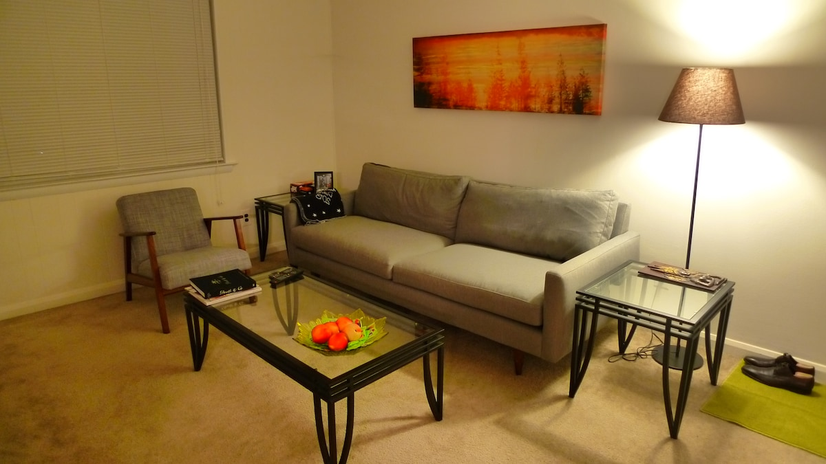 Comfy apartment with free parking