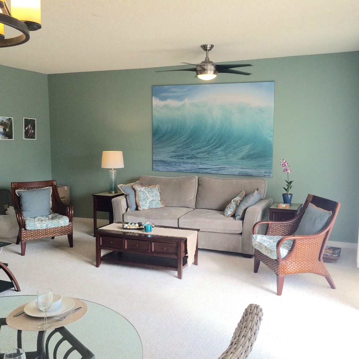 Newly renovated living room.