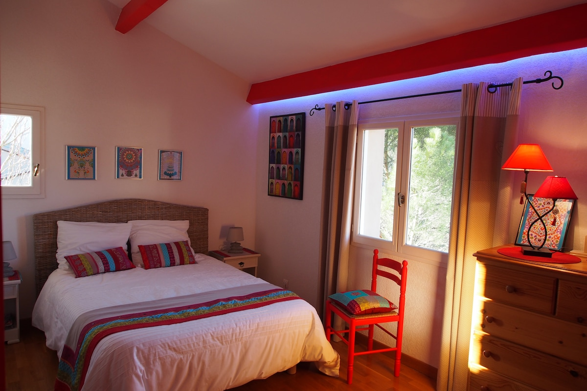 Private double room with bathroom.