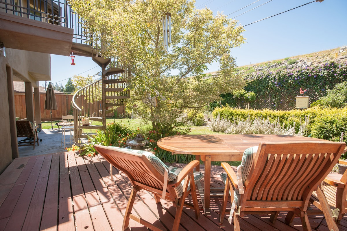 Guest wing w/ direct garden access