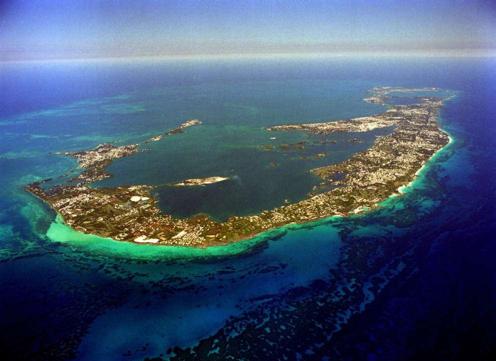 Bermuda - 22 square miles of land sitting atop of an exstinct volcano