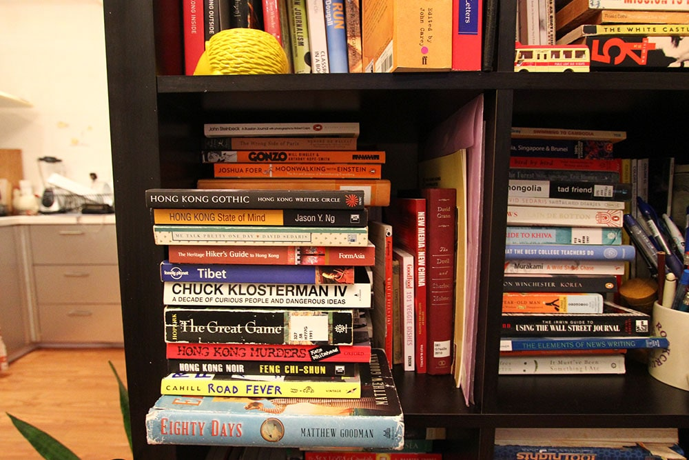 Little library with lots of travel books