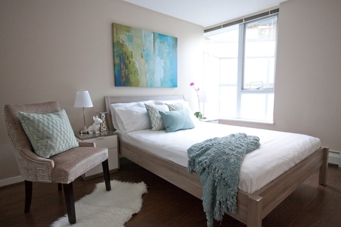 All new designer furniture in Master Bedroom with queen bed
