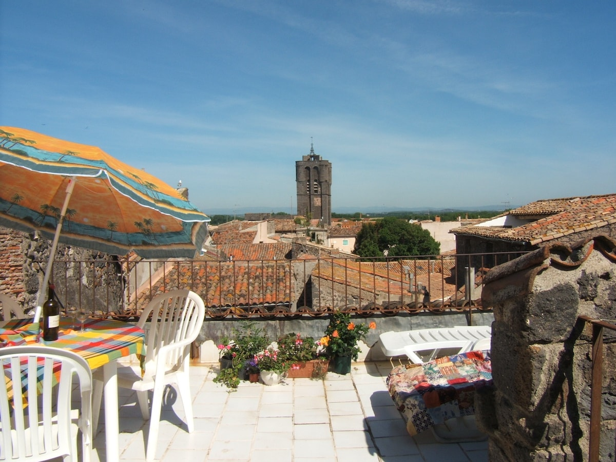 Town House, with sunny roof terrace