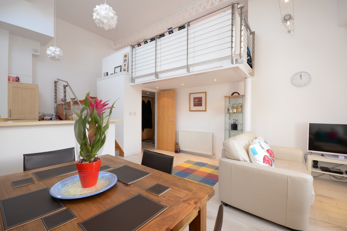 Cosy room in a modern flat, Leith