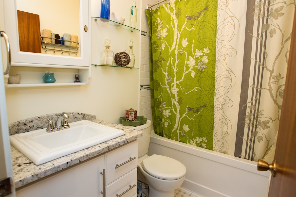 This is the shared bathroom right near the guest room.