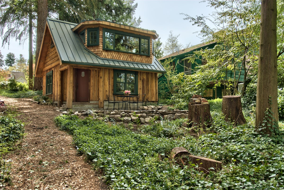 Wonderful image of Haller Lake Restored Log Cabin in Seattle with #624A2C color and 1440x960 pixels