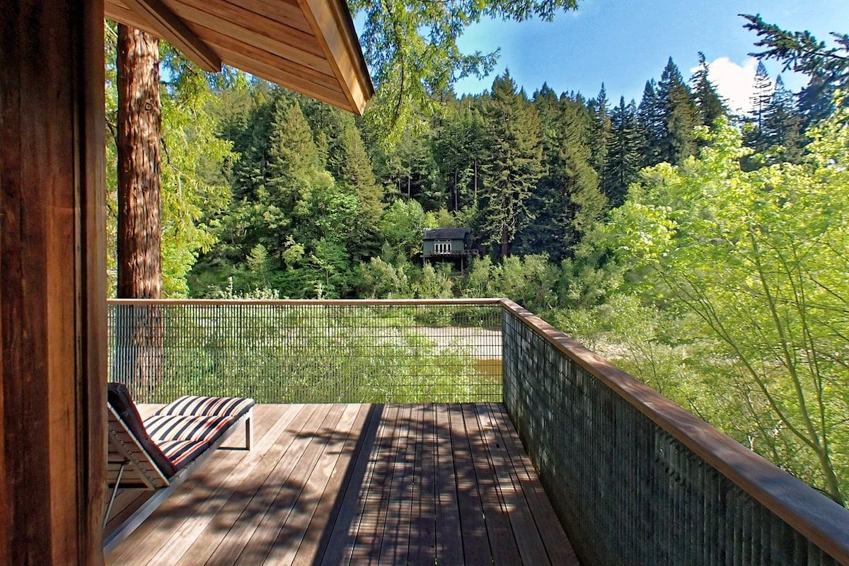 Relax on the deck and watch the wildlife and river go by.