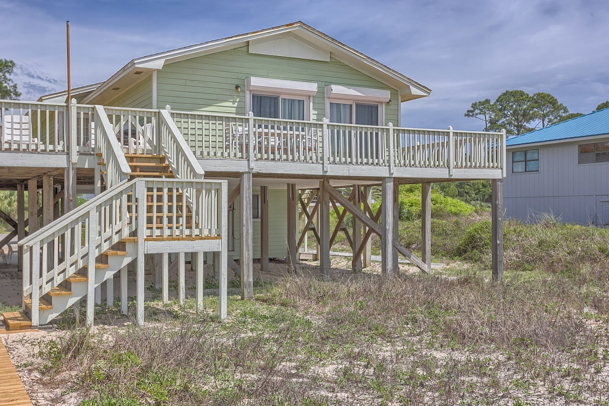 New Beachfront Home with Board Walk