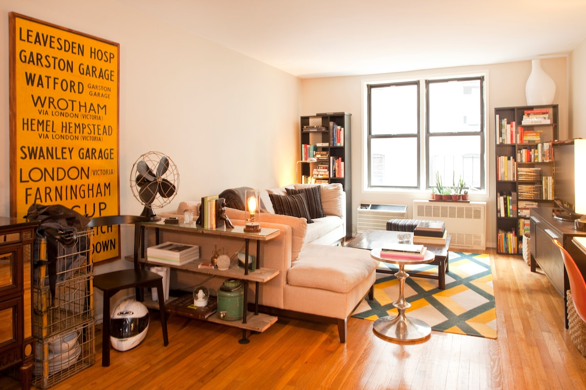 (Our living room furniture has changed, but this gives you an idea of the room size!)