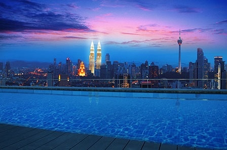 Rooftop Infinity Pool+full KL View!