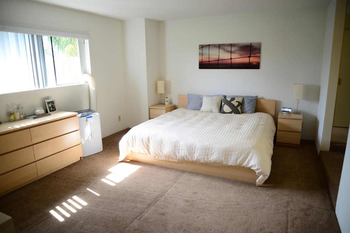 Spacious room and private bathroom!