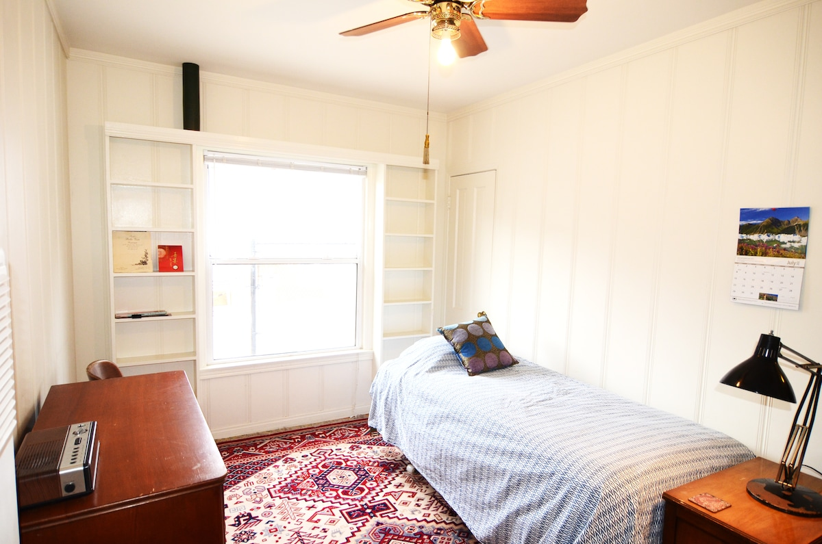 Bedroom # 1 with large window - bed has been changed to a double