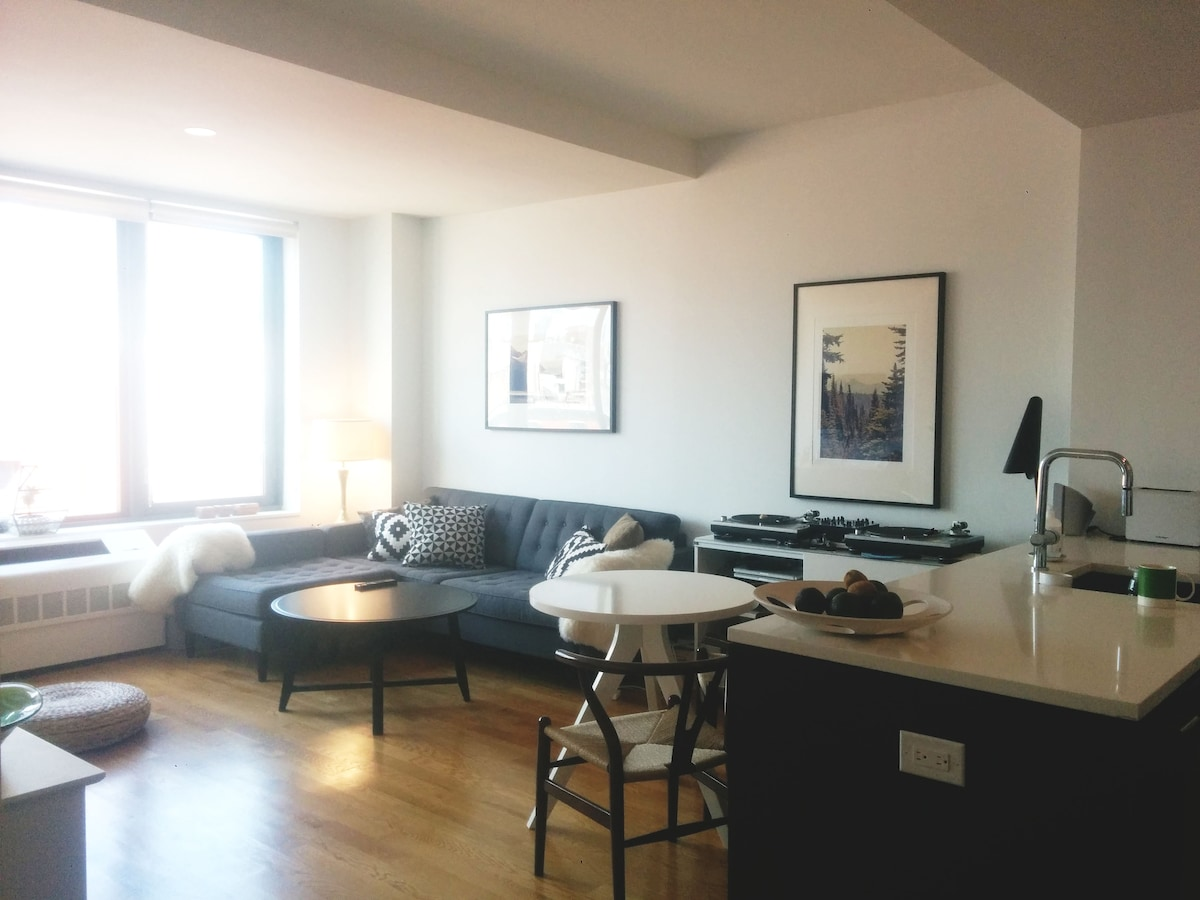 Bright, modern apartment in Brookly