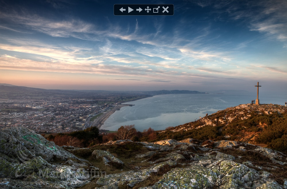 One of the many views from the top of Bray Head