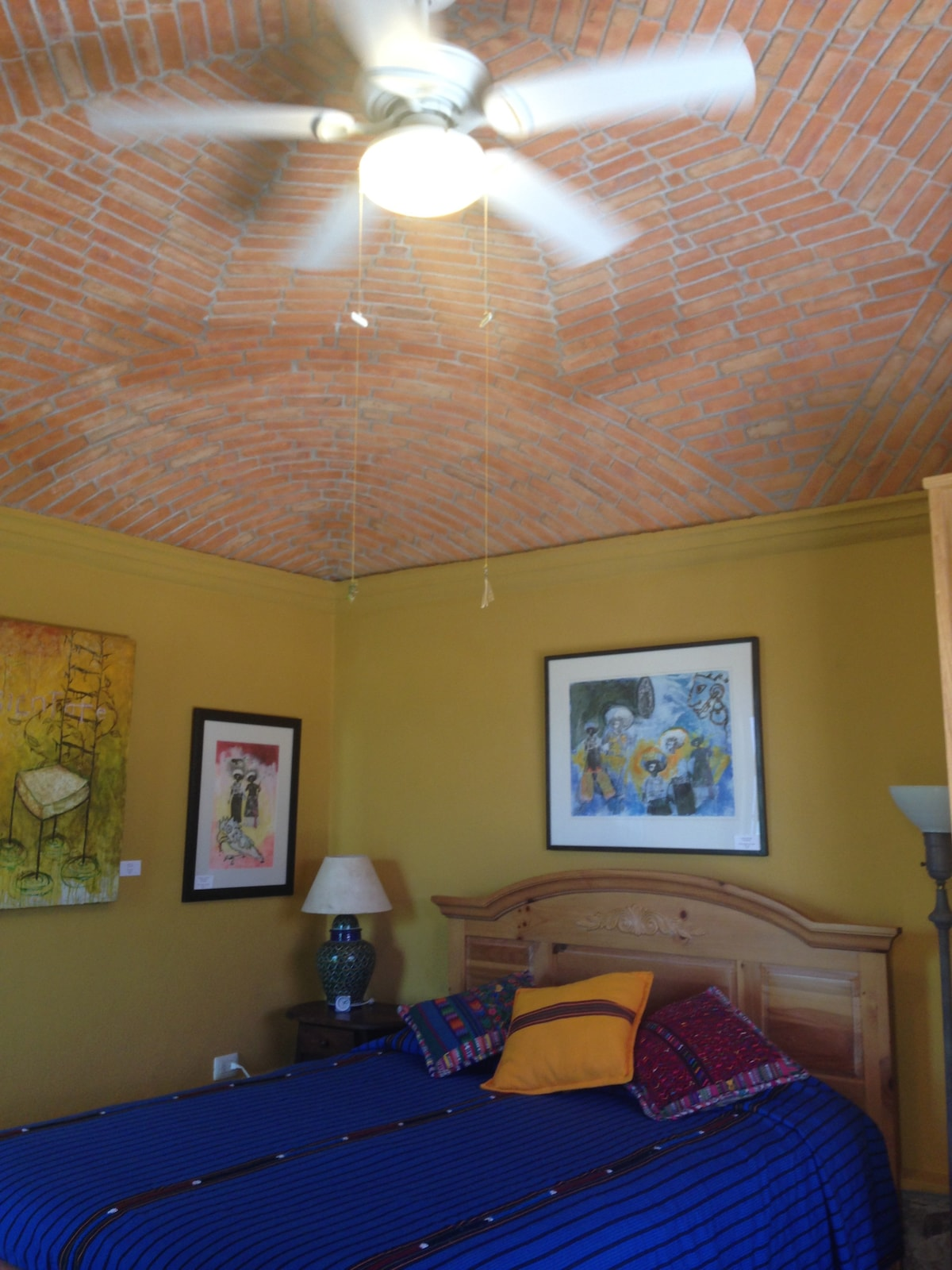 """La boveda, spanish for """"the dome"""", with a ceilng fan for these warm days."""